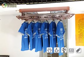 model E-1505HX electric clothes drying rack actual installation