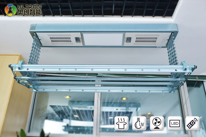 Eco-friendly aluminum alloy automatic clothes drying rack