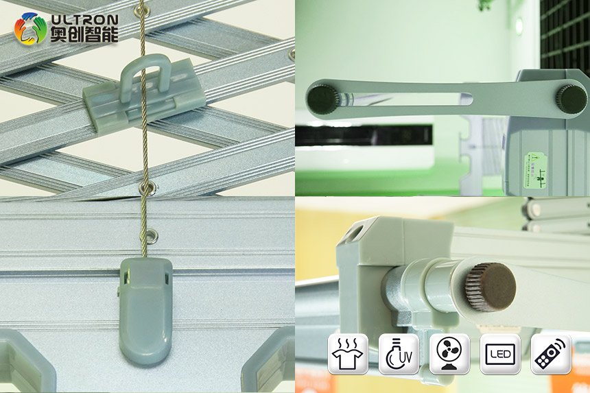 laundry four pole remote electric clothes drying rack