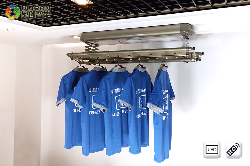 Household retractable clothes drying rack