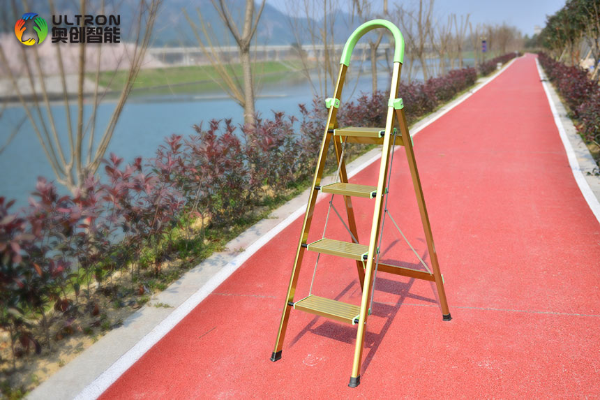 folding step ladder with handrail