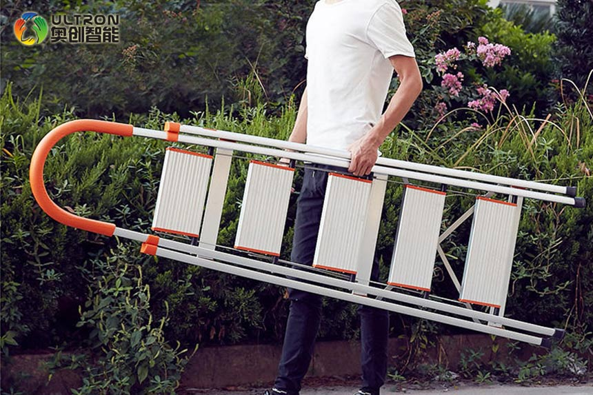 3step ladder with safety handrail