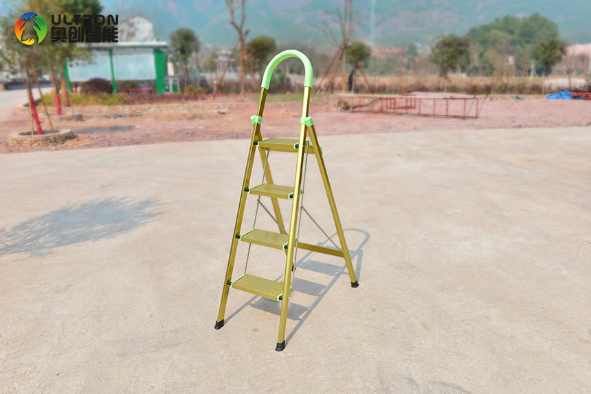 Folding Aluminum Step Ladder With Comfortable Handrail
