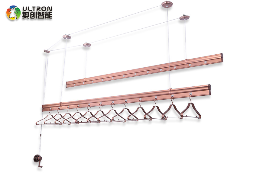 manual pulley clothes drying rack